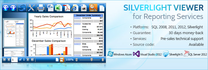 Silverlight Viewer for Reporting Services 2.8
