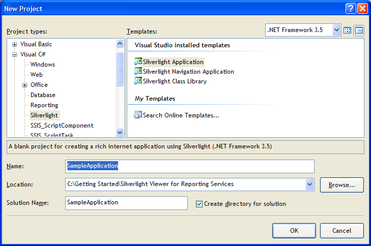 Getting Started: Silverlight Viewer for Reporting Services 2005