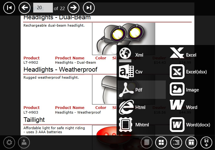 WinRT Viewer for Reporting Services